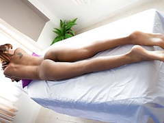 Skinny & pretty thai babe massaged and fucked on table movies at freekiloclips.com