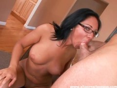 Chick in glasses sucks dick videos