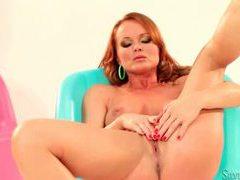Silvia saint masturbating as a redhead videos