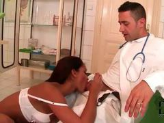 Doctor gets his dick sucked by black chick movies at lingerie-mania.com