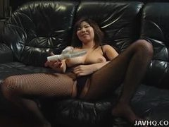Big tits asian babe toy inserting tubes at asian.sgirls.net