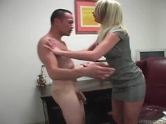Cbt from the busty boss at work movies at find-best-tits.com