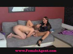 Femaleagent shy hippie tastes pussy movies at kilopics.com