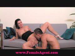 Femaleagent shy hunk is devoured videos