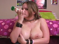 Sensual lotion rubbed into her big tits movies at sgirls.net
