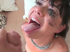 Eye makeup running as she sucks big cock videos