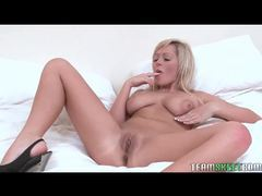 Blonde with a vibrator pleasures her pussy movies at sgirls.net