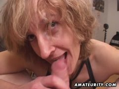 Mature amateur wife gives head with cum in mouth movies at lingerie-mania.com