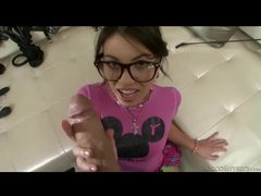 Cocksucking nerd girl fucked in the butt pov movies at sgirls.net