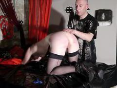 French libertine submissive in caning session bdsm videos