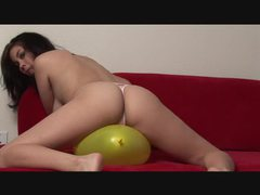Naked girl rubs balloon on her body movies