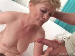 Hairy granny gets fingered then sucks dong movies at lingerie-mania.com