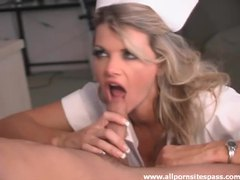 Stunning blonde nurse knows how to treat a patient movies at freekilomovies.com