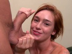 Slender cocksucking redhead with cum on tongue movies at kilotop.com