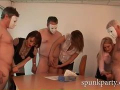 Lucky men with masks get their cocks stroked by sensual ladies movies at kilopics.net