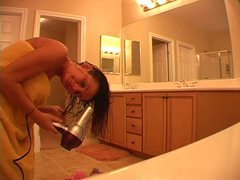 Hot chick does her hair after a shower movies at find-best-pussy.com