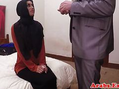 Arabic muslim riding cowgirl while in hijab videos