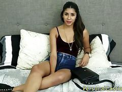 Indian casting beauty rides fat cock clip