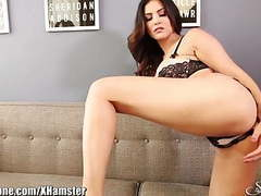 Sunnyleone striptease on the couch movies at sgirls.net