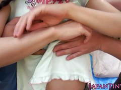 Flexible facialized asian teens mmf threeway tubes at japanese.sgirls.net