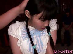 Tiny japanese babe squirts all over self when her clit is st tubes at japanese.sgirls.net