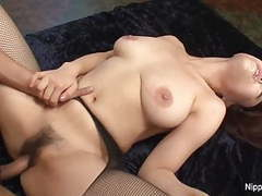 Tiny asian hottie wants her hairy pussy filled with cum tubes at lingerie-mania.com