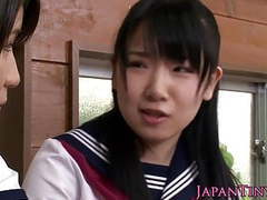 Tiny cfnm japanese schoolgirl love sharing cock videos