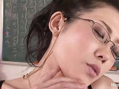Horny japanese teacher fucks herself in a classroom tubes at japanese.sgirls.net