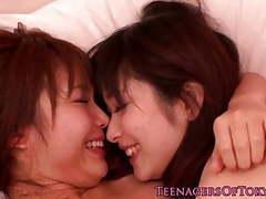 Japanese lesbians kissing after school movies at kilovideos.com