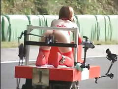 Japanese bondage - and squirts! - robot race videos