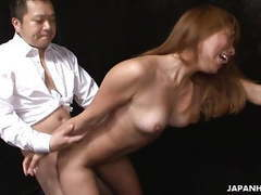 Asian tiny babe gets her wet pussy hammered as she moans videos