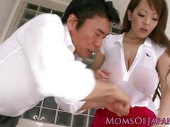 Busty asian milf showing her creampie tubes at lingerie-mania.com