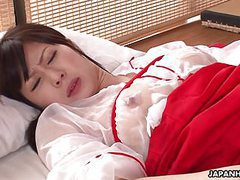 Fucking her soaking wet pussy in the kitchen tubes at japanese.sgirls.net