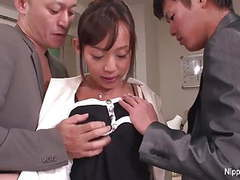 Young new office intern gets initiated with two hard cocks movies at dailyadult.info