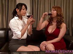 Japanese dykes pussylicking and fingering tubes at lingerie-mania.com