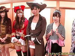 Japanese cosplay babes squirt in orgy movies at freekiloporn.com