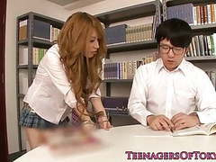 Asian schoolgirl fucking instead of studying tubes at japanese.sgirls.net