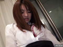 Asian office lady getting her bush toy fucked movies
