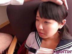 Jap petite babe pounded after dicksucking tubes at japanese.sgirls.net