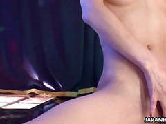Asian stripper getting wild on the pole as she masturbates tubes at lingerie-mania.com