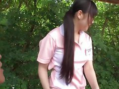 Subtitled bizarre japanese half naked caregiver outdoors tubes at japanese.sgirls.net