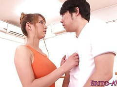 Flexible busty japanese babe gets facialized movies at freelingerie.us