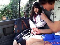 Cumswallowing asian schoolgirl in the car movies at find-best-babes.com