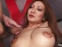 Sexy babe masturbates while she gets loads blown on her face tubes at japanese.sgirls.net