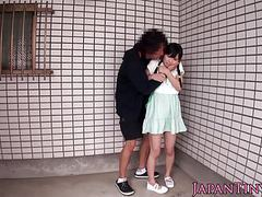 Facefucked petite japanese jizzed in mouth tubes at lingerie-mania.com