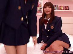 Japanese les teen schoolgirls scissoring movies at kilopics.net
