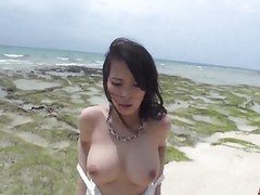 Kyouko maki works cock in both the pussy and mouth tubes at japanese.sgirls.net