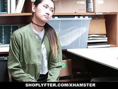 Shoplyfter - asian hottie busted for stealing tubes at asian.sgirls.net