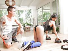 Teamskeet - hardcore sex workout for asian teen tubes at find-best-asian.com