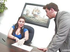 Asian hottie london keyes gets an office fuck tubes at find-best-asian.com